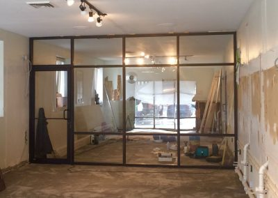 Glass entry way