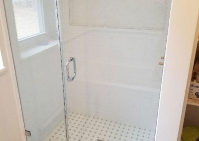 glass shower door install