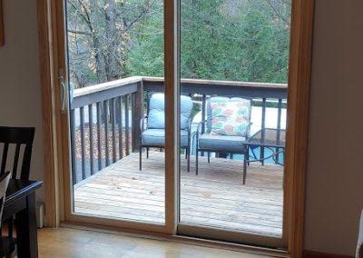 New sliding patio door