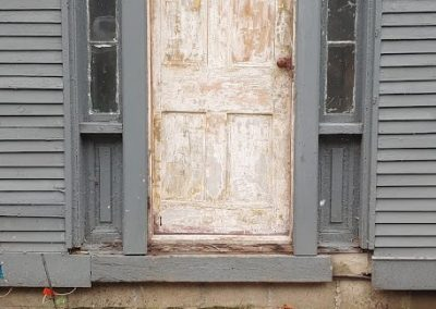 Old door removal and replacement