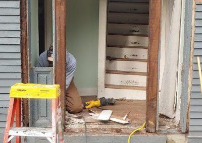 Removing old front door