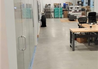 Commercial glass install