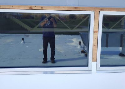 commercial window install