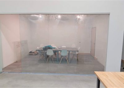 Conference room glass wall