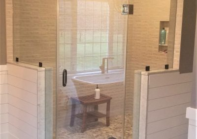 Custom Shower Install by Able Paint, Glass & Flooring in Vermont
