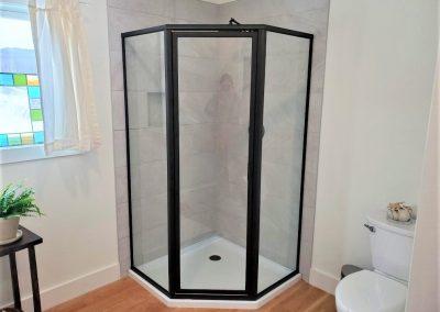 custom framed glass shower doors