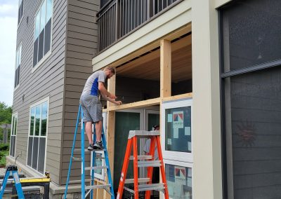 New Business Door and Sidelight Windows