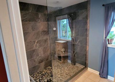 Large Custom shower glass